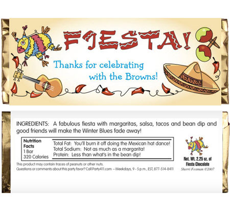 A Fiesta Theme Party Candy Bar Wrapper