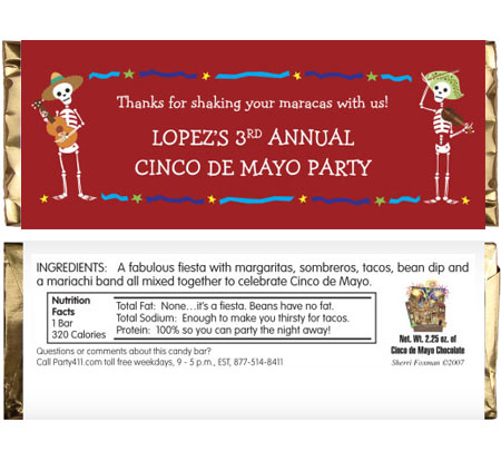 Cinco de Mayo Theme Candy Bar Wrapper