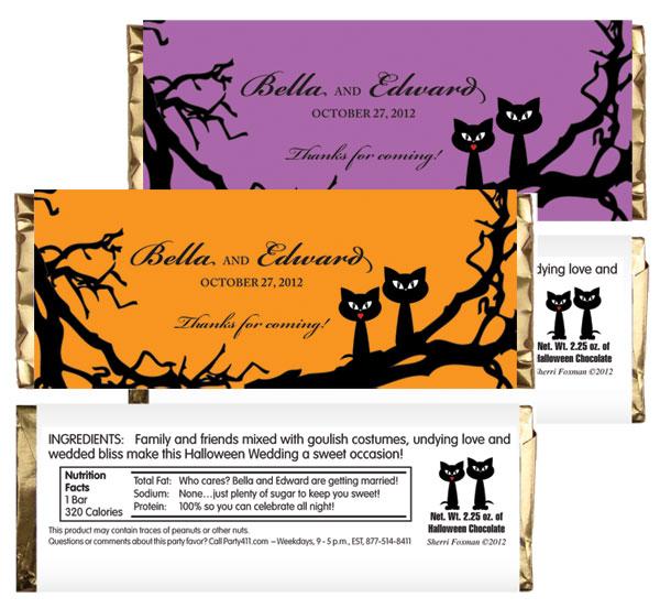 Halloween Wedding Theme Candy Bar Wrapper