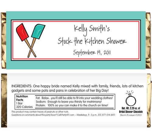 Bridal Shower Kitchen Theme Candy Bar Wrapper