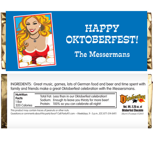Oktoberfest Brew Theme Candy Bar Wrapper