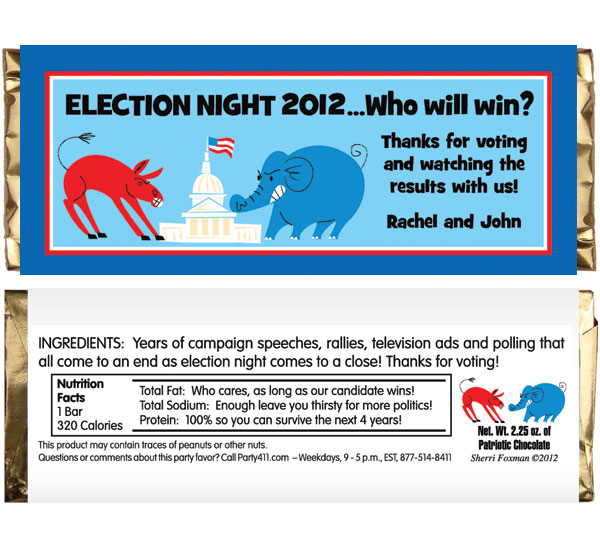 Patriotic Election Theme Candy Bar Wrapper