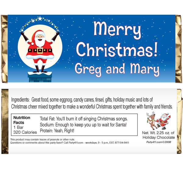 Christmas Santa Magic Theme Candy Bar Wrapper