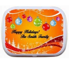 Christmas Ornaments Colorful Theme Mint Tin