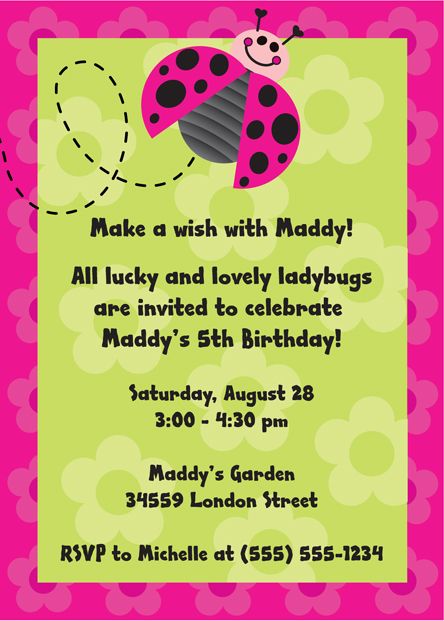 Ladybugs Party Invitation