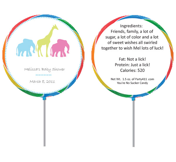 Custom Lollipop, Animals Theme
