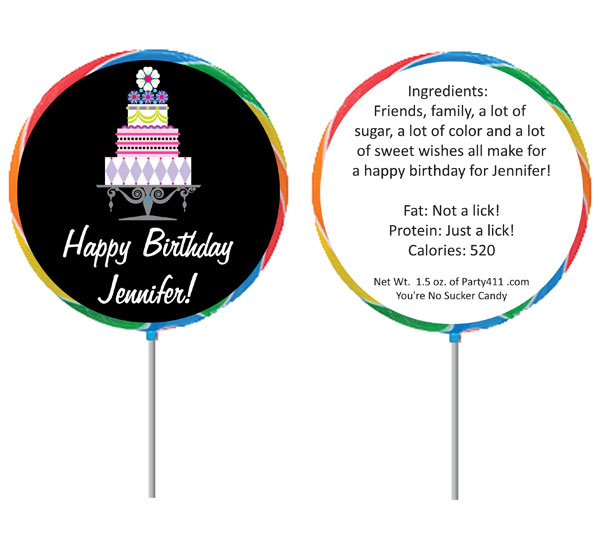 Birthday Cake Theme Lollipop