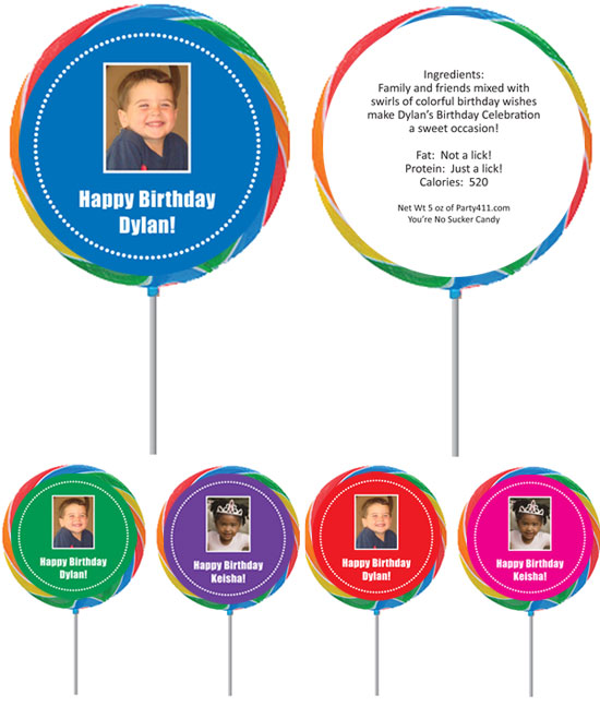 Birthday Photo Custom Lollipop