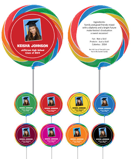Custom Lollipop, Graduation Photo