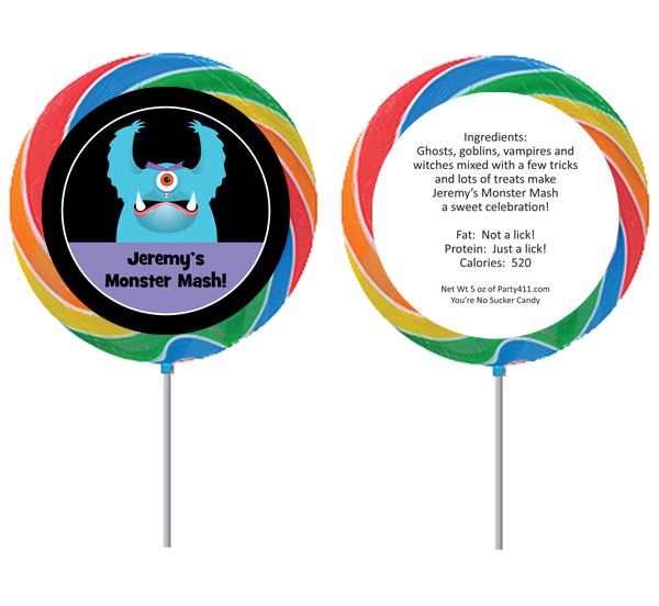 Halloween Monsters Lollipop
