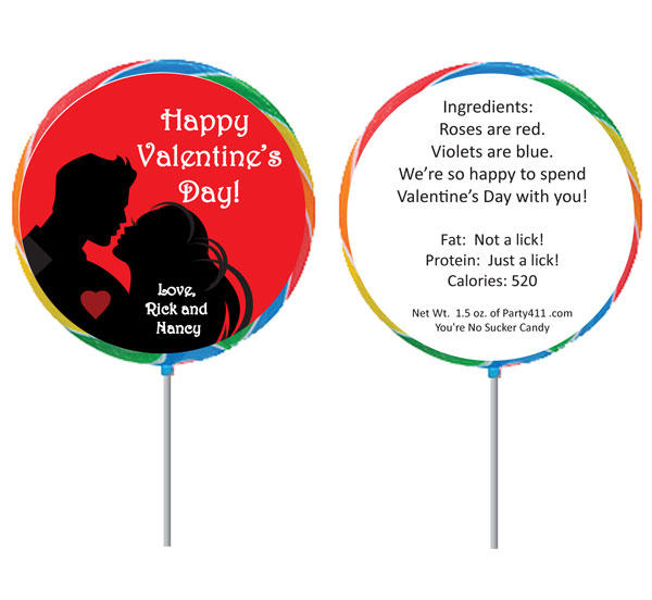 Valentine's Day Couple Lollipop