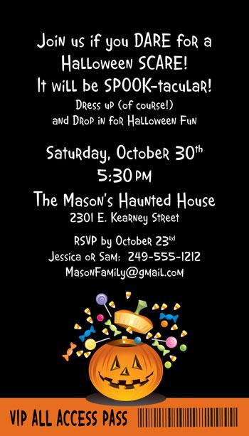 Halloween Backstage Pass Invitation