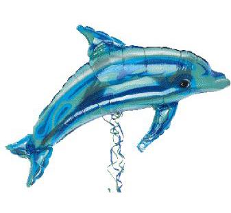 Dolphin Mylar Balloon