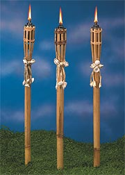 Bamboo & Seashell Torches