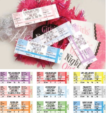 Bachelorette Party Authentic Ticket Invitation