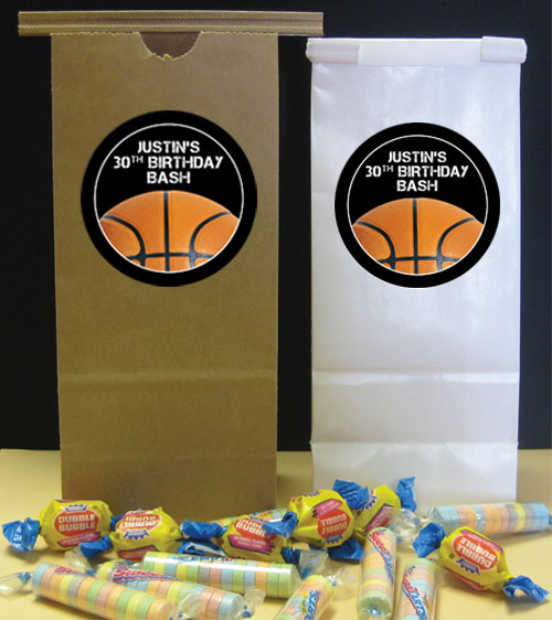 Basketball Party Theme Favor Bag