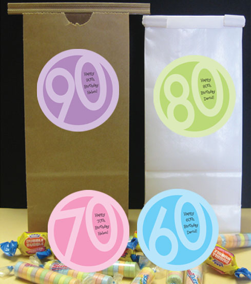 Birthday Age Theme Party Favor Bag