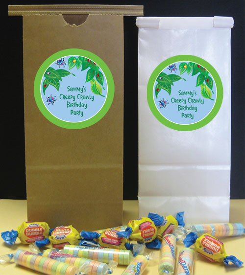 Wriggly Bugs Theme Favor Bag