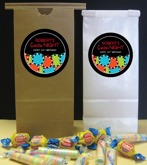 Casino Poker Chips Theme Party Favor Bag