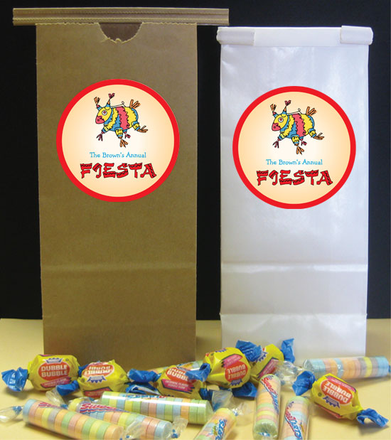 A Fiesta Theme Custom Favor Bag