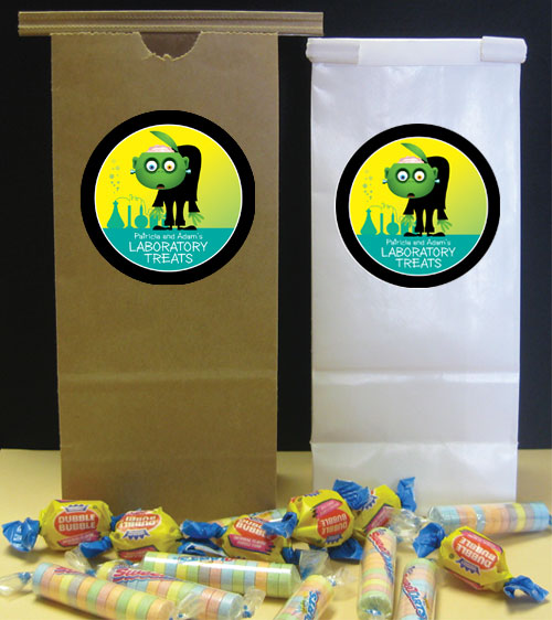 Halloween Lab Party Favor Bag