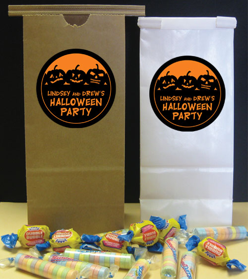 Halloween Jack o Lanterns Theme Favor Bag