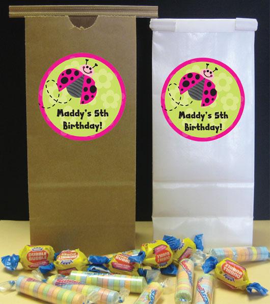 Ladybugs Theme Custom Party Favor Bag