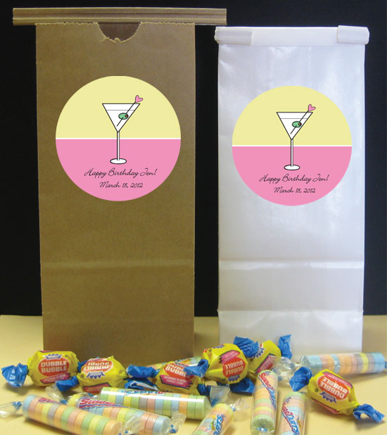 Martini Theme Party Favor Bag