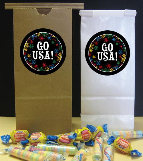 Winter Snowflakes Olympics Theme Favor Bag