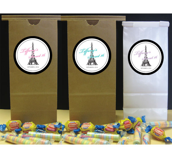 Paris Party Theme Favor Bag