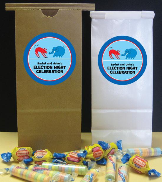 Patriotic Election Theme Party Favor Bag
