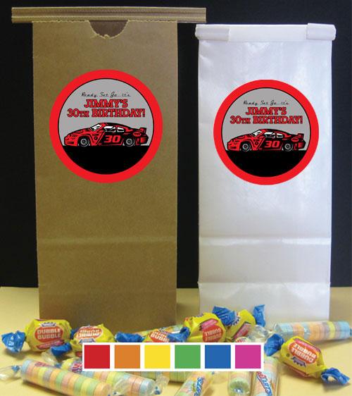 Racing Party Theme Favor Bag