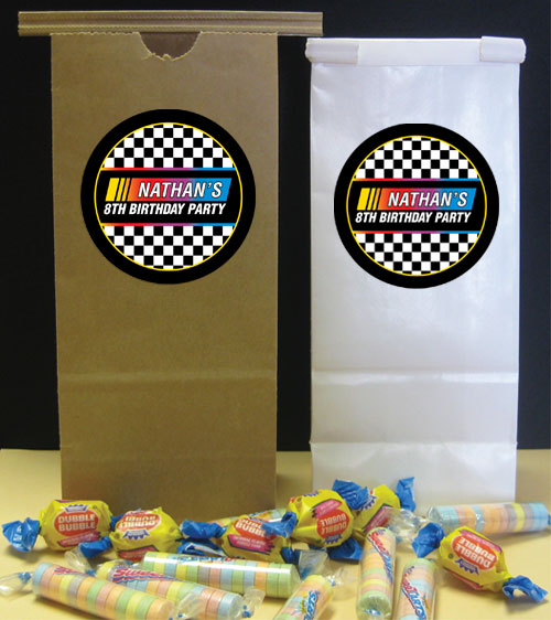 Racing Flag Theme Favor Bag