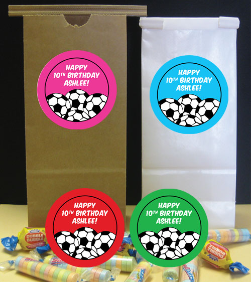 Soccer Girl Theme Favor Bag
