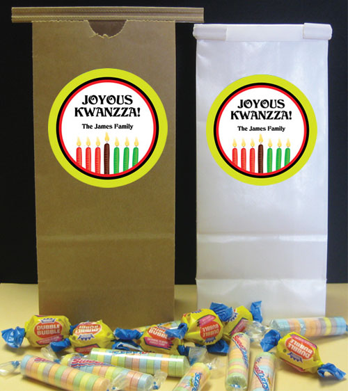 Kwanzaa Kinara Party Favor Bag