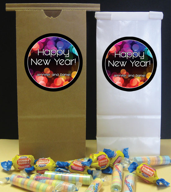 A New Years Colors Theme Favor Bag