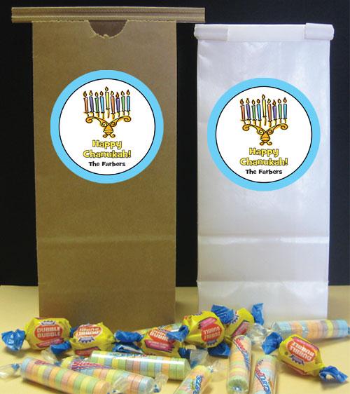 Chanukah Menorah Theme Party Favor Bag