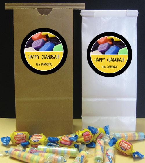 Chanukah Dreidel Theme Party Favor Bag