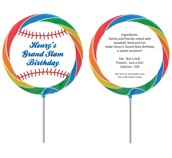 Baseball Theme Lollipop