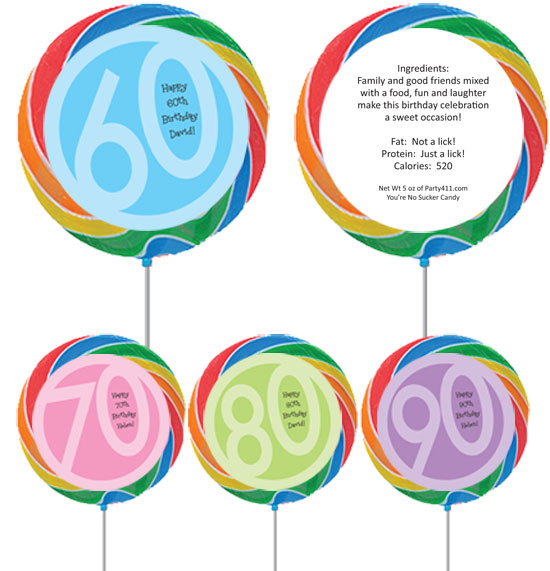 Birthday Age Theme Lollipop