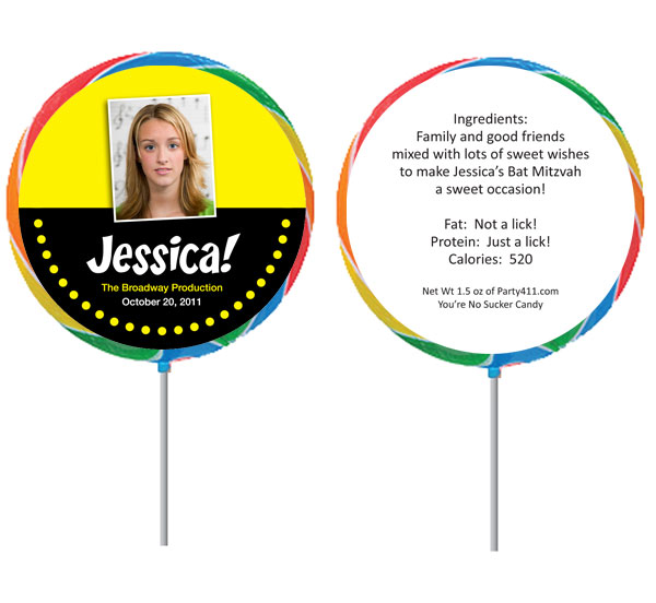 Broadway Lights Theme Custom Lollipop