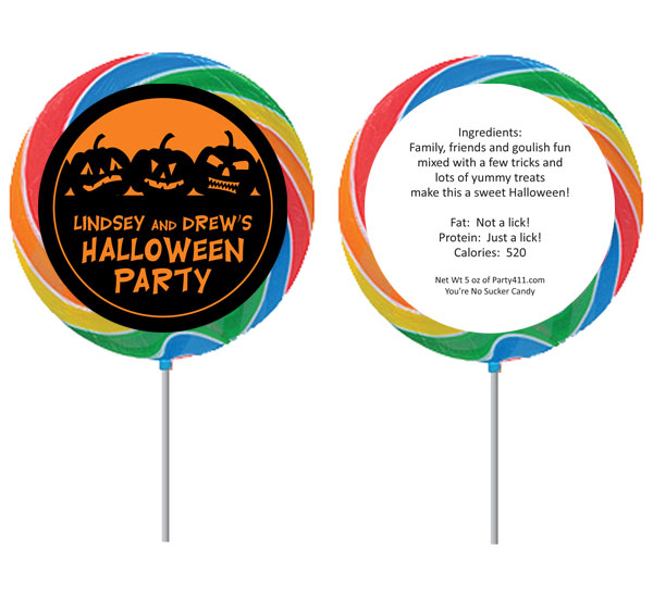 Halloween Jack o Lanterns Theme Lollipop
