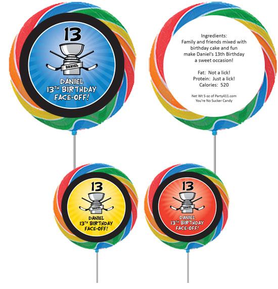 Hockey Cup Theme Custom Lollipop