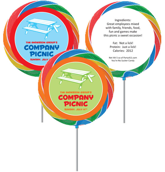 Picnic Theme Lollipop