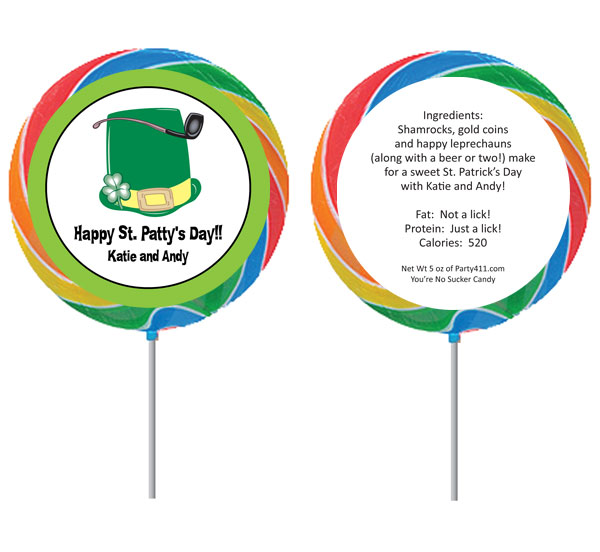 St. Patrick's Day Derby Lollipop