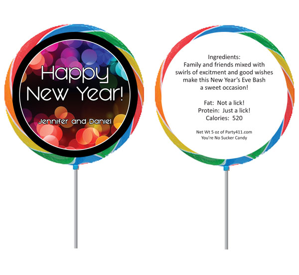A New Year's Colors Theme Lollipop