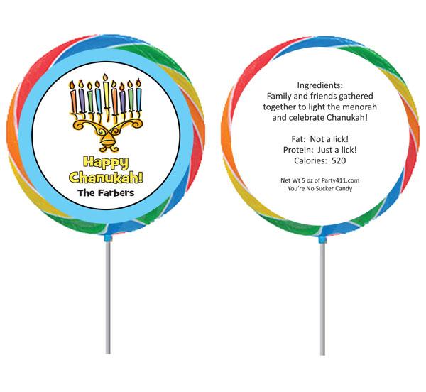Chanukah Menorah Lollipop