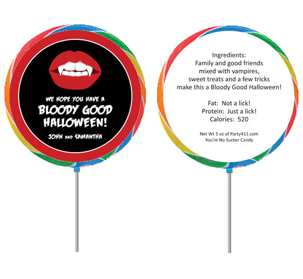 Halloween Vampire Lollipop