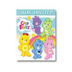 Care Bears Invitations