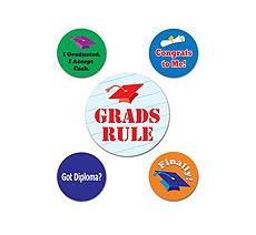 Graduation Party Button Asst (5)